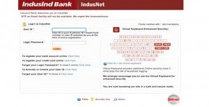 IndusInd Bank Sign In