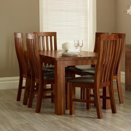Oxford Acacia Dark Wood Dining Table