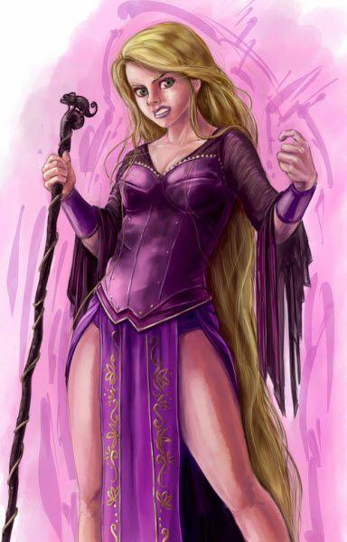 Cool!  Rapunzel as a sorceress?
