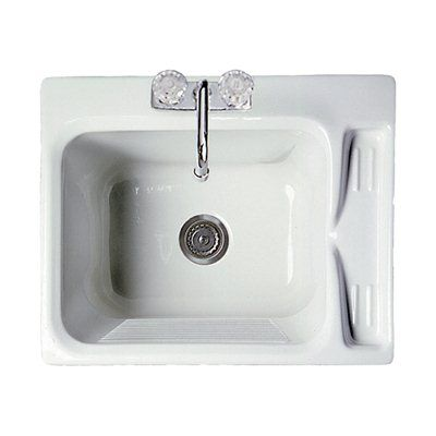 Acri-Tec Industries 11021 Acrylic Deluxe Laundry Sink
