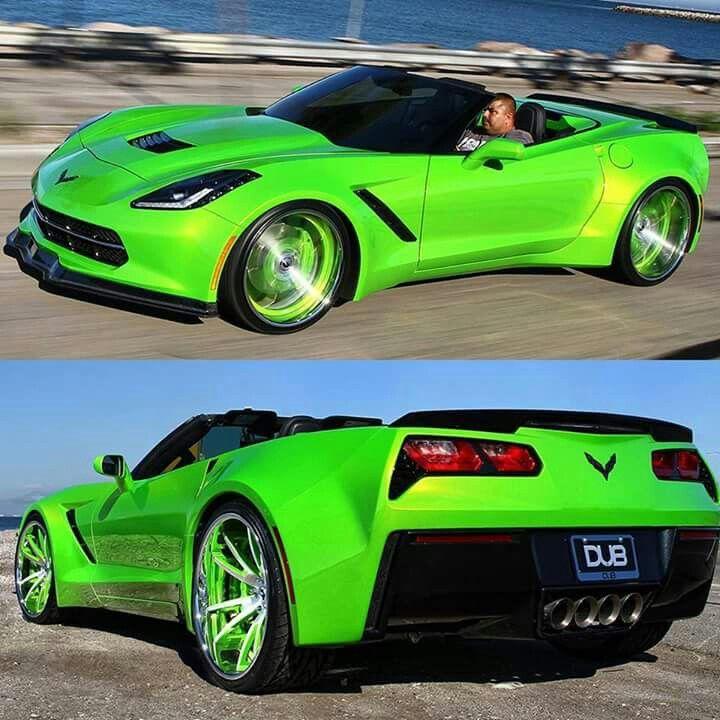 Corvette Driving Shoes >> Bright Green C7 Corvette | Chevrolet Corvette / Camaro Wheelzz | Pinterest | Corvettes, Green ...