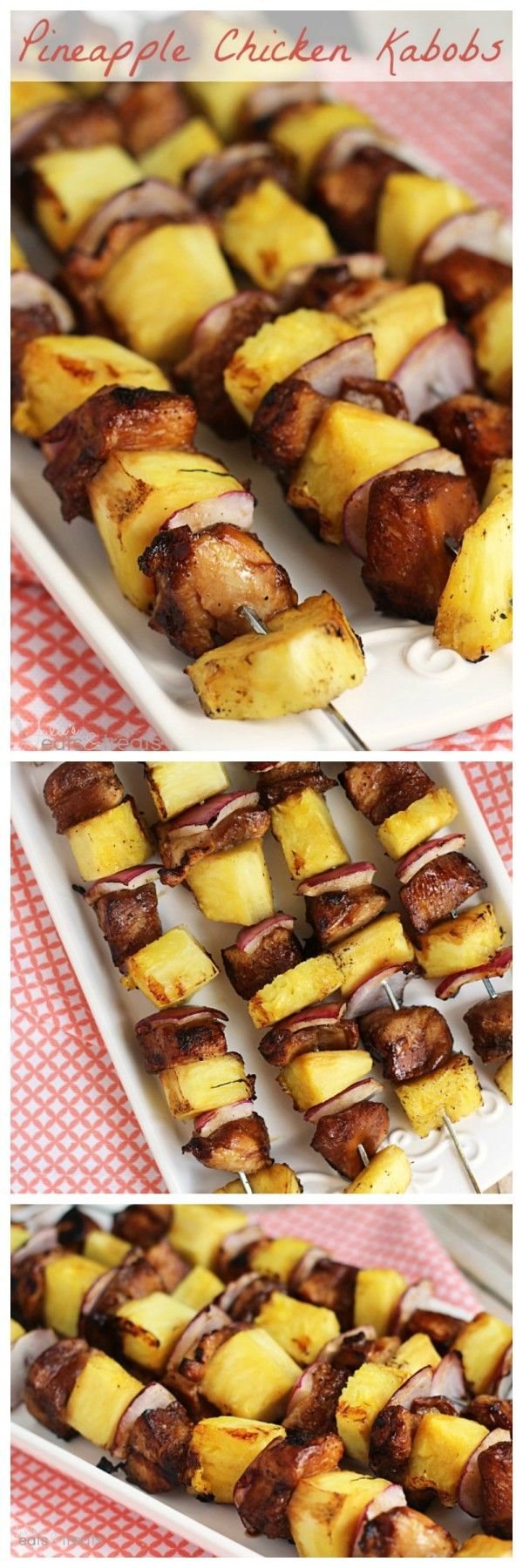 Pineapple Chicken Kabobs ~ Quick and Easy Marinated Kabobs that are the Perfect Combination of Sweet and Tangy!