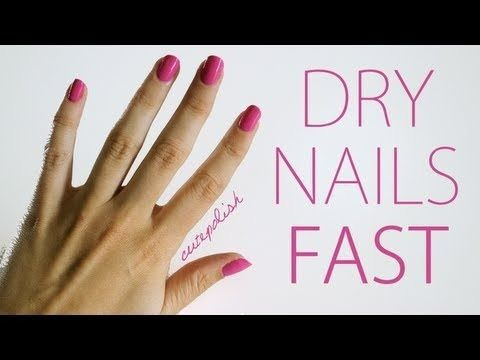 5 Ways To Dry Your Nails Fast! These tips actually work.
