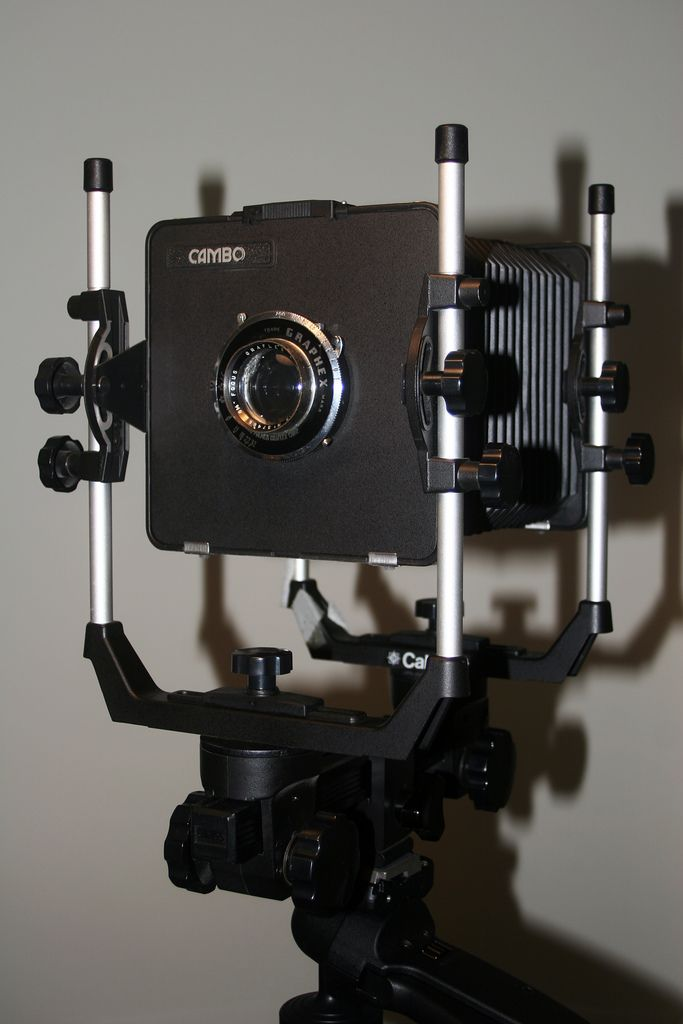 This is my 5x4 Monorail View Camera. I got it off eBay a few years ago and haven't used it as yet. 5x4 is a problem to use anyway but I'm thinking of modifying the back to accept one of my EOS 20D bodies. I'd need a wideangle lens though.