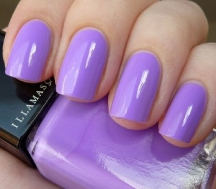 Beautiful Purple Nail Polish In Light Color Style