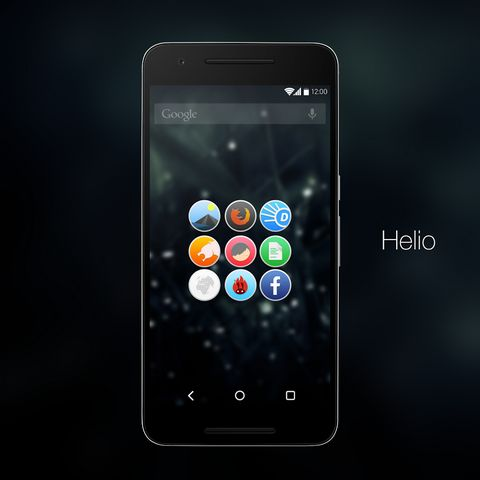 Helio UI (Donate) Icon Pack v4.0   Helio UI (Donate) Icon Pack v4.0Requirements: 4.0.3 and upOverview: Helio UI is a Circular Icon Pack with vivid colorsgradient and minimal shadows.  Helio UI is a Circular Icon Pack with vivid colorsgradient and minimal shadows.  FEATURES: - XXXHDPI(192 x 192 px) Icons. - Over 1300 Custom Icons and growing. - Frequent Updates. - Designed using Vector graphics. - Cloud Based Wallpaper Picker. - Hundreds of alternative Icons. - Muzei Live Wallpaper Support…
