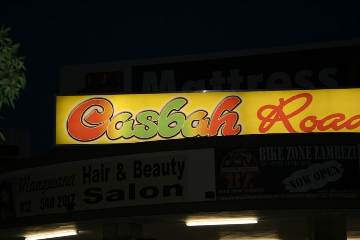 Casbah sign.