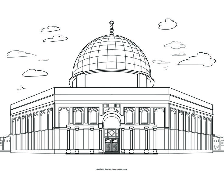 mosque coloring coloring pages