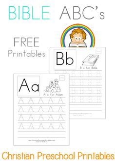 Free Bible ABC Handwriting & Coloring Pages