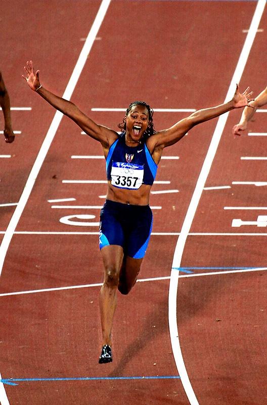 Marion Jones Gold Medal 100 meter Summer Olympics Sydney Australia 2000