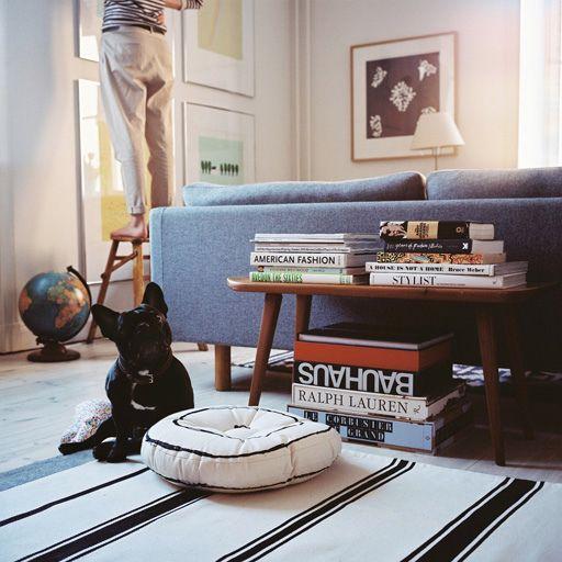 Julie Von Hofsten / Carl Kleiner {flea market mid-century vintage modern living room} by recent settlers, via Flickr