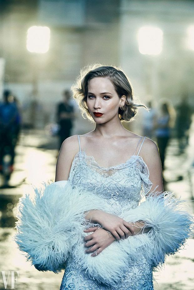 Jennifer Lawrence by Peter Lindbergh for Vanity Fair Holiday 2016