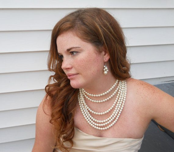 Bridesmaids Pearl Set Pearl Wedding Jewelry by PearlyJaneBridal, $58.00 ????? not sure about this one