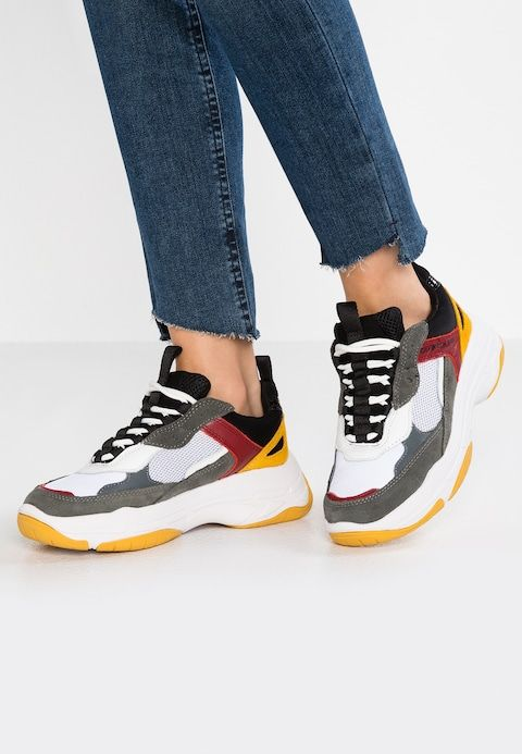0edd8e13a70112 Calvin Klein Jeans MAYA - Trainers - white/black/grey/rosso - Zalando.co.uk