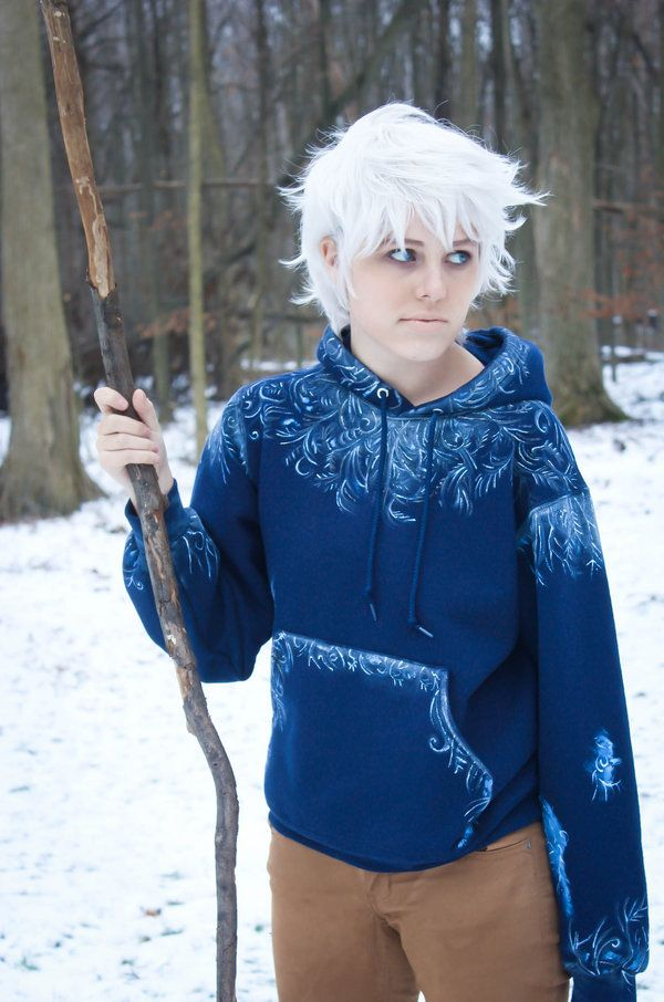 Female jack frost cosplay