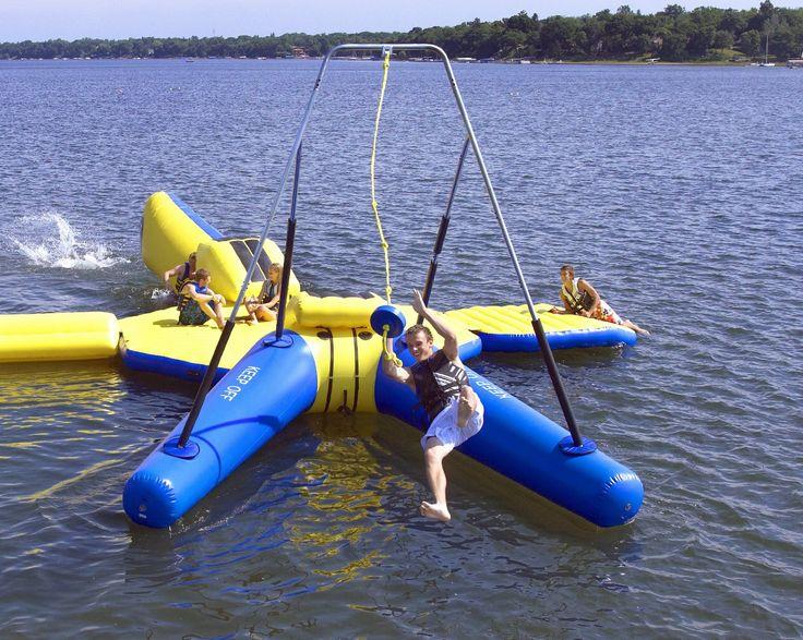 Trampolim com balanço para se jogar na água - Hiper Original