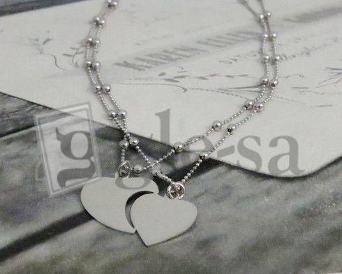 #girocollo lui e lei maglia cartier con sfere e ciondolo #cuore che si divide  http://www.glesa.it/vetrine