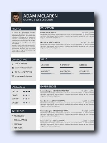 The Iconic | Even non-creative jobs can benefit from a modern resume as it highlights your creativity, which is a sought-after trait that employers look for and it adds a conservative amount of color and design while remaining professional and clean.