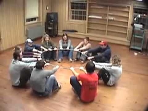 Yurt Circle - Duct Tape Teambuilding Game - YouTube