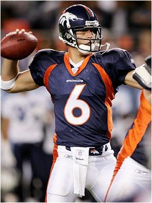 Jay Cutler #6 Denver Broncos QB  College:Vanderbilt
