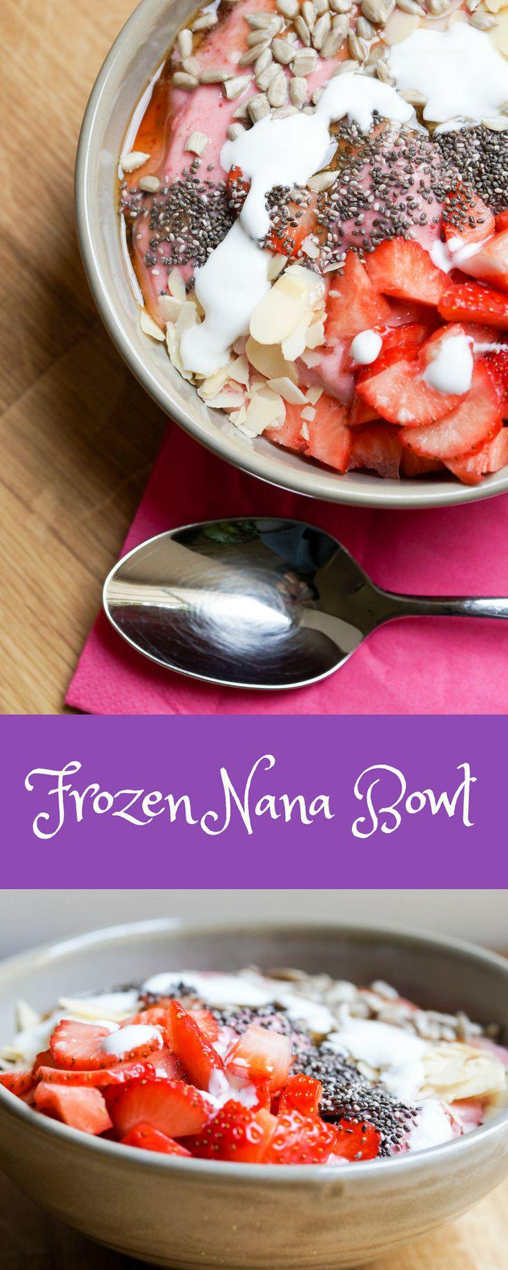 Nana Bowl , Nicecream, Eis , gesundes Frühstück , Essen für Kinder