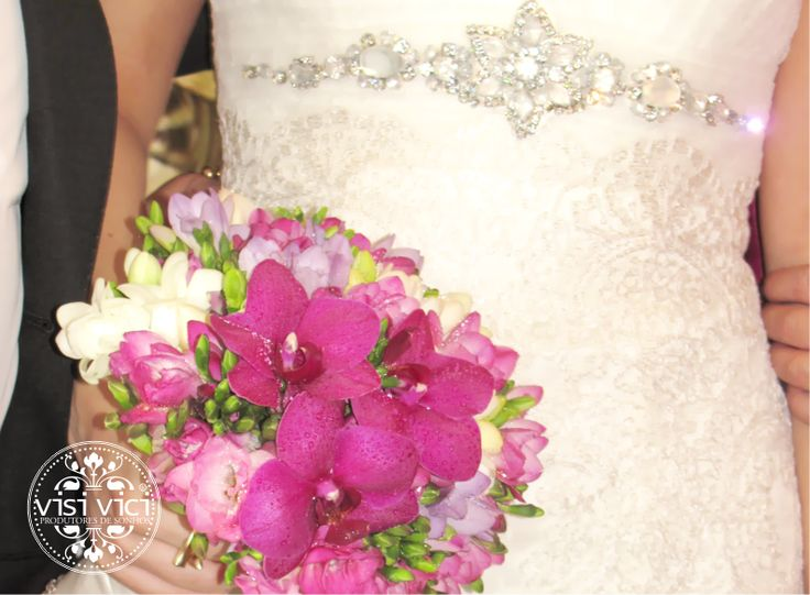 Wedding bouquet | purple | White | orchids