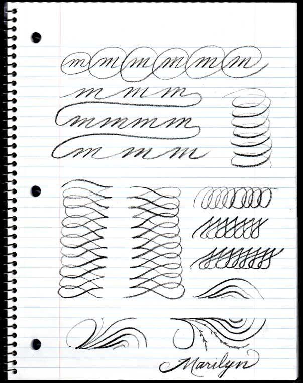 penmanship practice ...