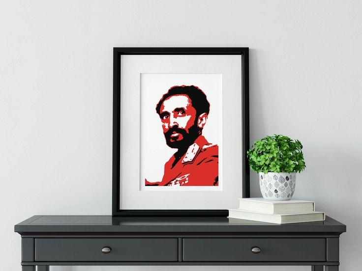Haile Selassie - Framed Illustration