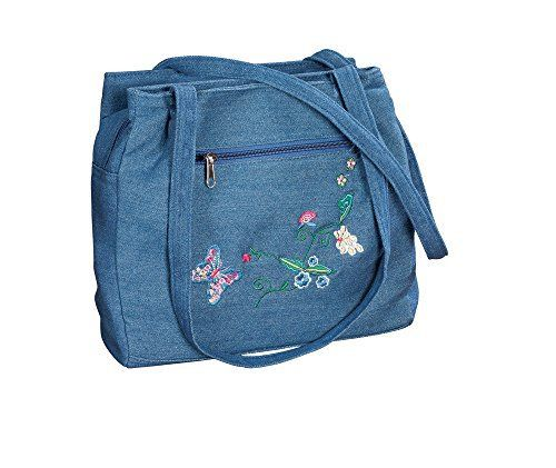 New Trending Purses: Three Section Embroidered Denim Handbag. Three Section Embroidered Denim Handbag   Special Offer: $17.99      222 Reviews Embroidered 3section denim handbag, accented by colorful embroidery on its front zip pocket, features 3 easyaccess sections and a magnetic closure. Roomy center section has a zip compartment, back section has...