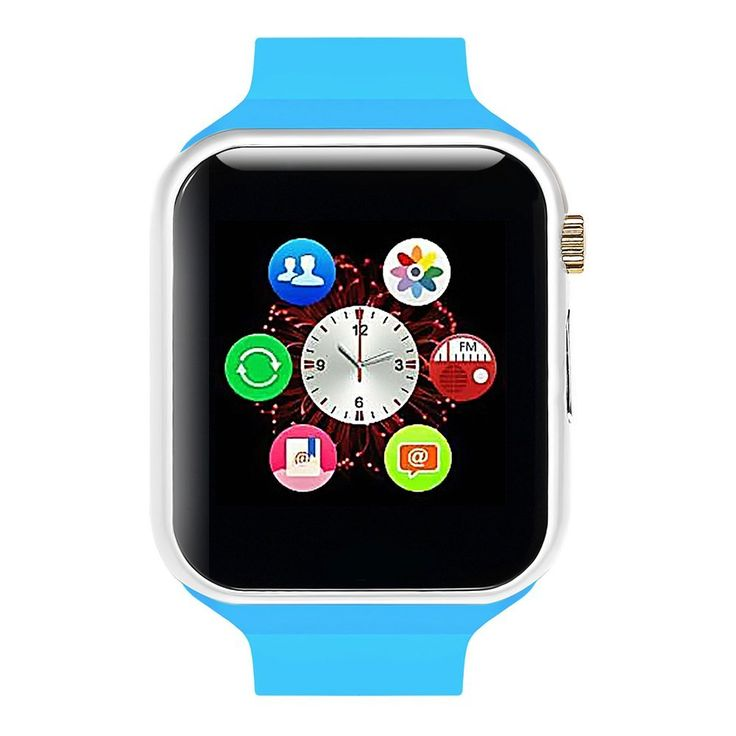 Lincass Smart Watch Bluetooth Fitness WristWatch with Camera Waterproof Smartwatch with Camera Pedometer Anti-lost Men Women Health Bracelet for Apple Iphone IOS Samsung Android Smartphone (Blue) ** You can get more details by clicking on the image.