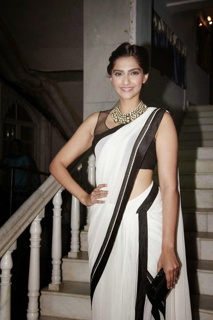 sonam-kapoor-hot-in-white-saree-4