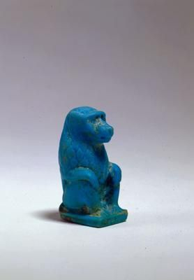 Figure of a seated baboon. Egypt. Graeco-Roman Period, late Ptolemaic/Roman Period, c. 50 BC-AD 100. Faience. h. 5.5cm. Acquired 1974. Robert and Lisa Sainsbury Collection. UEA 585. www.scva.ac.uk