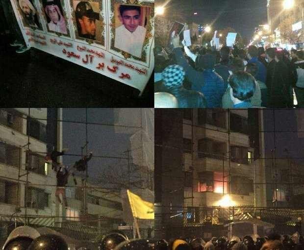 آتش خشم معترضان کنسولگری عربستان در مشهد را سوزاند