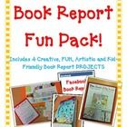 Book Reports don't have to be boring!  These are Fun Book Reports your students will get excited about!