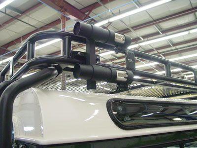 Rack mounted holders.