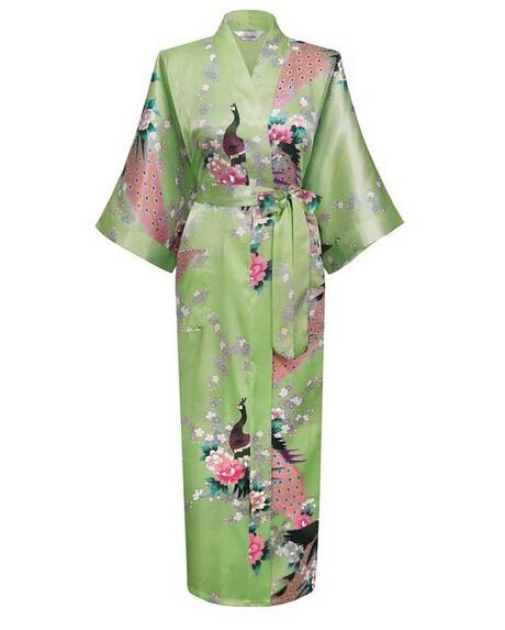 Brand New Wedding Bride Bridesmaid Robe Satin Rayon Bathrobe Nightgown For Women  Kimono Sleepwear Flower Plus bff8eb7b8