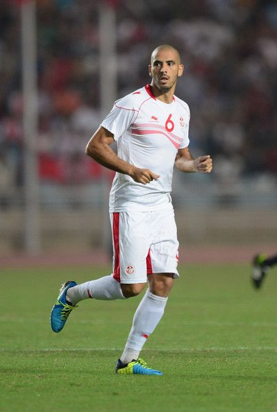 Houcin Reguid of Tunisia in action during the FIFA 2014 World Cup qualifier at the Stade Olympique de Radès on October 13, 2013 in Rades, Tunisia.