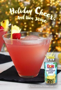 1/2 cup raspberry flavored vodka 1/4 cup peach schnapps 1/2 cup DOLE® Canned 100% Pineapple Juice 1/2 cup cranberry juice