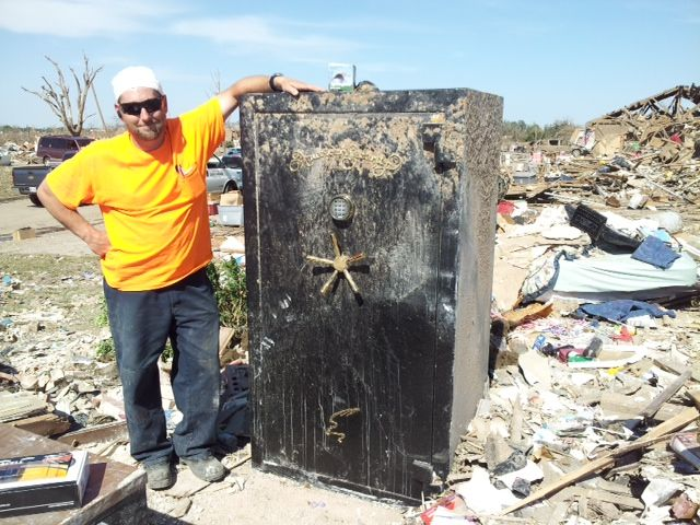 This AMSEC safe survived a Tornado!