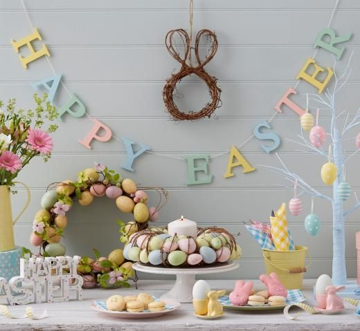 Gisela Graham Pastel Wood Happy Easter Garland - £9.00 - A great range of Gisela Graham Pastel Wood Happy Easter Garland gifts and homewares from The Contemporary Home Online Shop