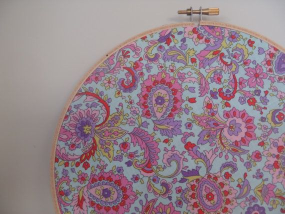 10 Inch Paisley Embroidery Hoop Wall Art