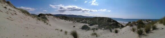 Welsh dunes on a beautiful day.