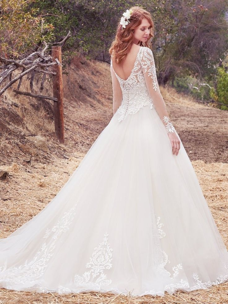 Fancy Favorite Sleeved Wedding dresses Classic ballgown with sleeves Berkley by Maggie Sottero