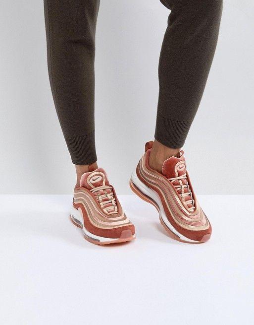 8b59482dd3cf Nike Air Max 97 Ultra  17 Velvet Trainers In Dusty Peach