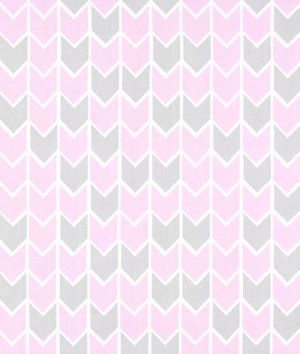 Springs Creative Concord House Nursery Harper Down Arrow Fabricin pink and gray - $6.7 | onlinefabricstore.net