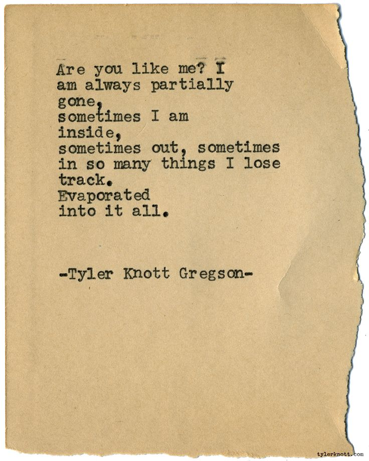 Typewriter Series #1872 by Tyler Knott Gregson Wildly Into the Dark is out now! Snag a copy!
