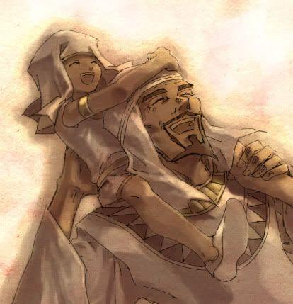 Little priest Seto and Aknadin. :'(