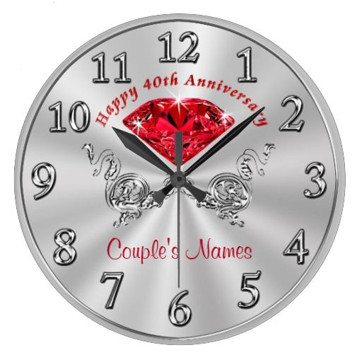 gifts for couples large clock anniversary gifts for wife 40th wedding ...