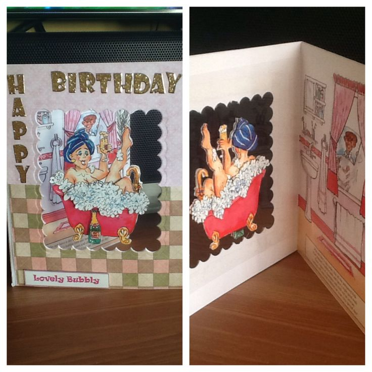 Flippin' Women from La Pashe cd rom, Birthday Card