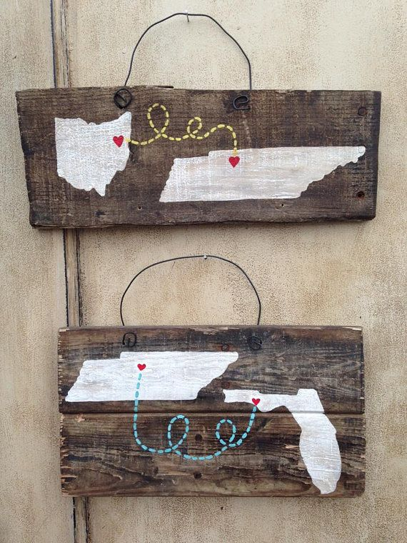 Small Rustic State to State Pallet